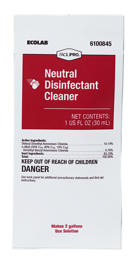 FACILIPRO Neutral Disinfectant Cleaner PourPak